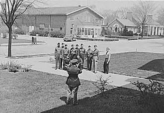 Fort Benjamin Harrison - Graduates of the U.S. Army Chaplain School at Fort Benjamin Harrison pose for a photograph, April 1942