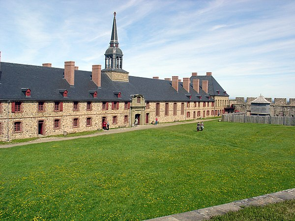 fort louisbourg was located on what islands