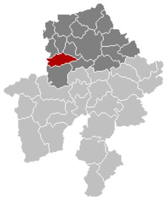 Fosses-la-Ville - Image: Fosses la Ville Namur Belgium Map