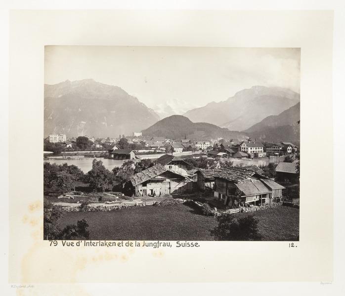 Fotografi av Interlaken och Jungfrau - Hallwylska museet - 103145