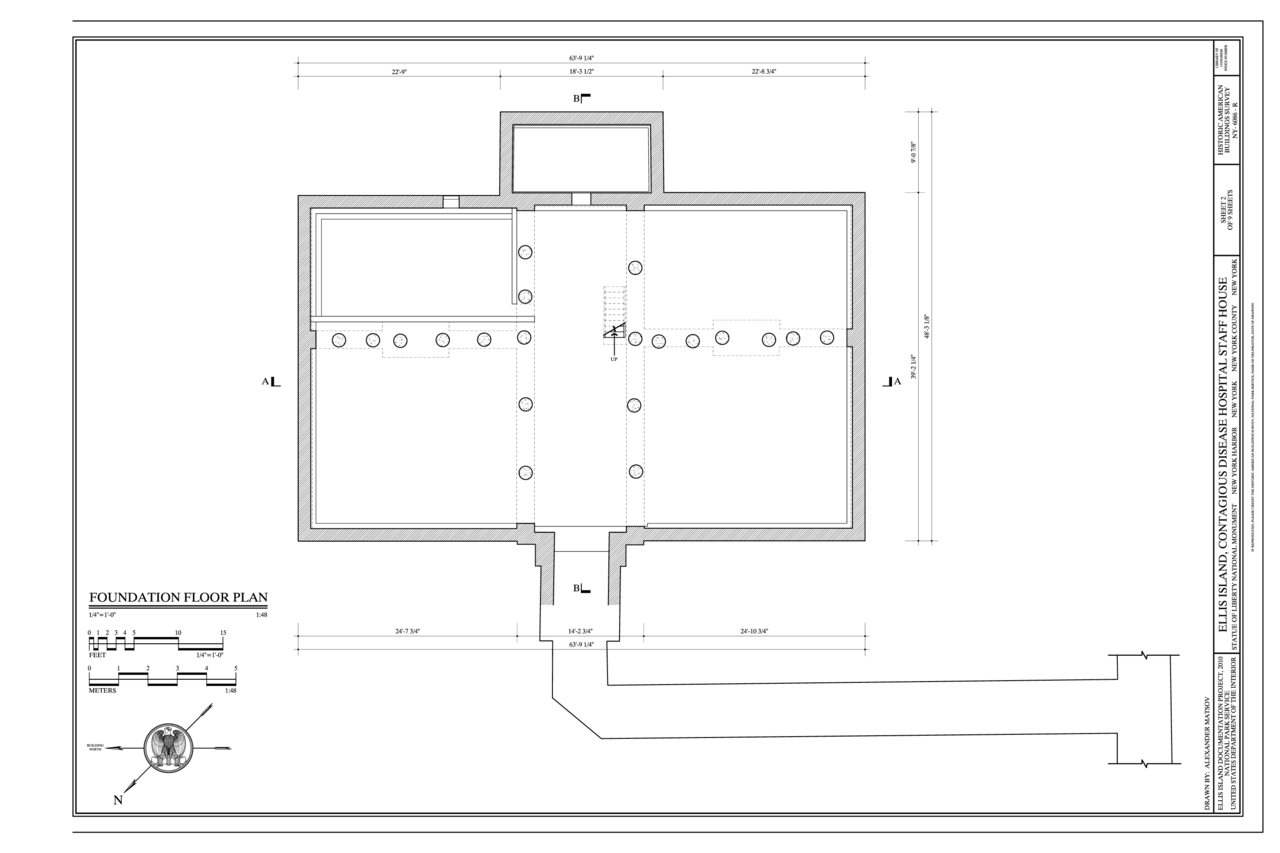 File foundation floor plan ellis island contagious for Foundation blueprints