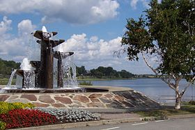 Fountain on Osisko Lake.jpg