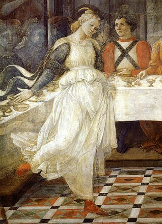 Salome - Herod's Banquet (detail) by Fra Filippo Lippi (15th century)