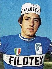 Figurina di Moser in maglia Filotex nel 1973