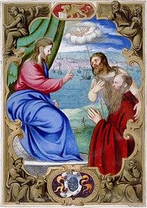 Francesco Pisani presented by John the Baptist to Christ who blesses him.jpg