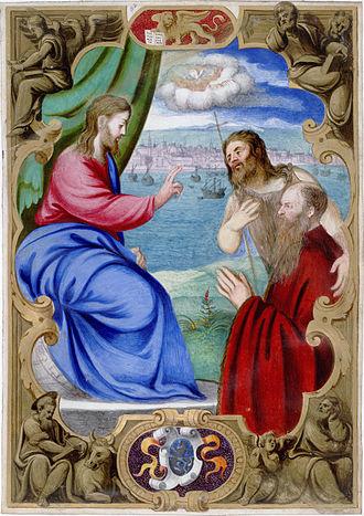 Francesco Pisani - Francesco Pisani presented by John the Baptist to Christ who blesses him.