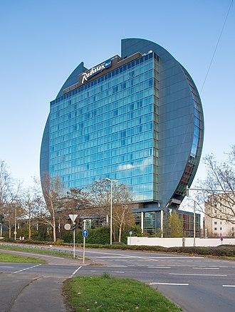 Carlson (company) - A Radisson Blu hotel in Frankfurt, Germany