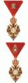 Frans Jozef-Orde van Oostenrijk Kleine decoratie der IIe en IIIe Klasse 1917.PNG