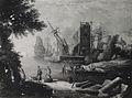 Franz Ignaz Flurer - Pristanišče z ribiči, stolpom in antičnim stebrom.jpg