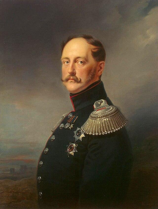 Franz Krьger - Portrait of Emperor Nicholas I - WGA12289.jpg