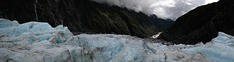 Franz Josef Glacier - Panoramic view from the Franz Josef Glacier