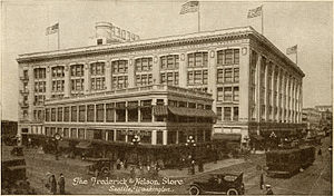 Frederick & Nelson - Image: Frederick & Nelson Store, Seattle, ca 1922 (5460635460) borders removed