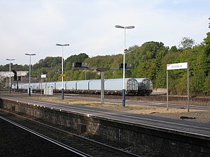 Micheldever railway station - Image: Freight at Micheldever Station sidings geograph.org.uk 1511246