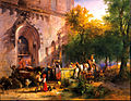 Friedrich Gauermann - At the Monastery Fountain - Google Art Project.jpg