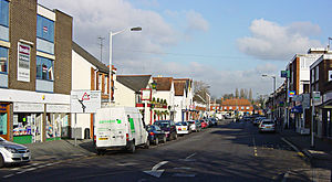 Frimley - Image: Frimley High Street Looking East