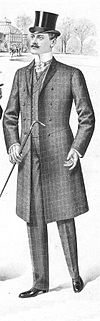An Informal Checked Frock Coat Suit With Odd Waistcoat The Foreparts Are Connected By A Chain Link
