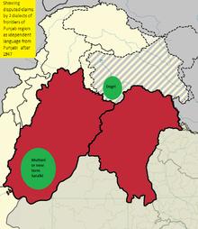 Punjab region and eastern punjab dialect