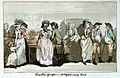 Fruit Shop, Lymington - Mr Wigstead meeting Friends (caricature) RMG PW4945.jpg