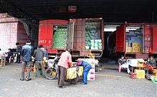 Fruit wholesalers in Haikou, Hainan Province, China