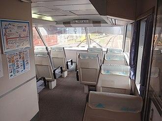 Fujikyu 2000 series - Image: Fujikyu 2000 observation seats 20090812