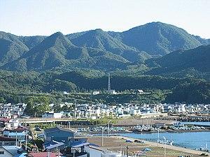 Fukushima, Hokkaido - Fukushima Town port area in 2005