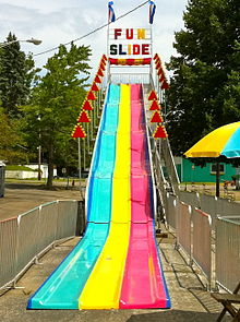 A slide (item of play equipment)