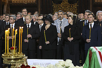 Mourners at the funeral of Alexy II including Serzh Sargsyan, Vladimir Putin, Dmitry Medvedev and Vladimir Voronin. Funeral of Patriarch Alexy II-13.jpg