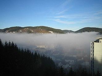 Furtwangen im Schwarzwald - Image: Furtwangen Jan 05 fog GHB