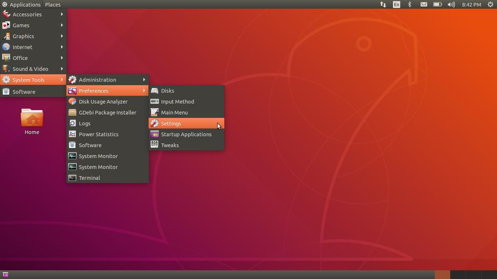 GNOME Flashback with Applications menu on Ubuntu 18.04