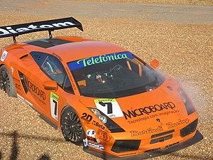 Campeonato Sudamericano de GT - Lamborghini Gallardo driven by Ingo Hoffmann and Paulo Bonifácio in the gravel.