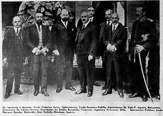 Carlos Herrera - Herrera and his cabinet shortly before the coup d'état of 1921.