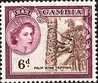 The Gambia - Stamp with portrait of Queen Elizabeth II, 1953