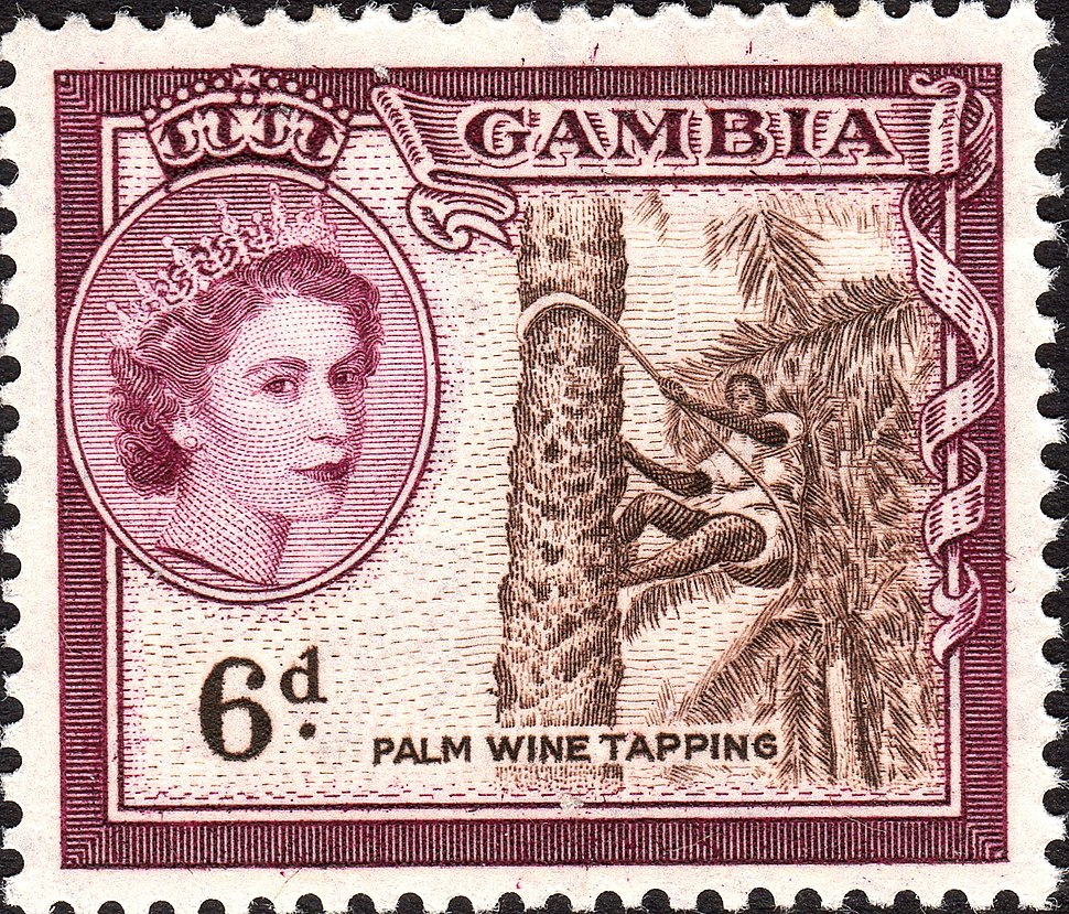 Gambia 1953 stamps crop 6