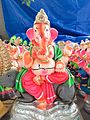 Ganpati Pictures - An image of Lord Ganesha riding a mouse -his animal vahana.jpg