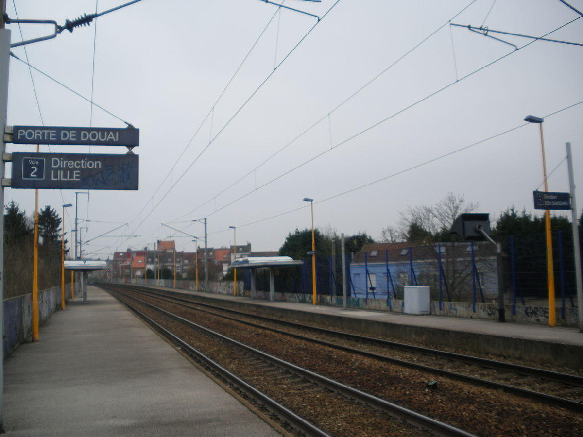 Gare de lille porte de douai wikip dia for Porte de garage lille