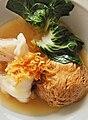 Garoupa throat with mushroom and vegetables at Atlantis Seafood, Singapore - 20090817.jpg