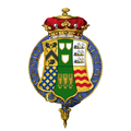 Garter encircled shield of arms of Charles Wynn-Carington, 1st Marquess of Lincolnshire, KG, GCMG, PC, JP, DL.png