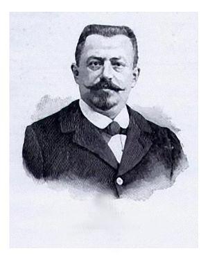 Barré (automobile) - Gaston Barré in 1899