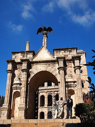 Rova of Antananarivo - Jean Laborde imported the bronze eagle atop the main gate from France in 1840.