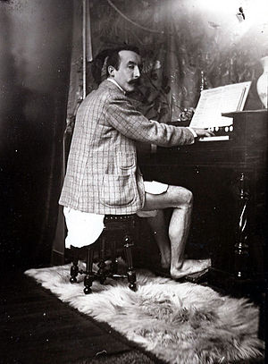 Paul Gauguin playing the harmonium in Alfons M...