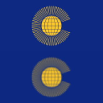 Gaussian blur - Two downscaled images of the Flag of the Commonwealth of Nations. Before downscaling, a Gaussian blur was applied to the bottom image but not to the top image. The blur makes the image less sharp, but prevents the formation of moiré pattern aliasing artifacts.