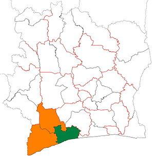 Gbôklé - Image: Gbôklé region locator map Côte d'Ivoire