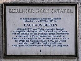 Gedenktafel Birkbuschstr 49 (Lankw) Bauhaus Berlin.jpg