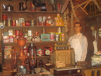 American business history - General store exhibit at the Deaf Smith County Historical Museum in Hereford, Texas