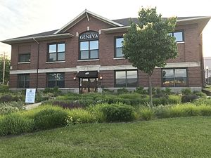 Geneva, Illinois - Geneva City Hall as viewed from Illinois Route 31.