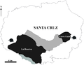 Geographic distribution of the two known lineages of giant tortoises on Santa Cruz Island.PNG