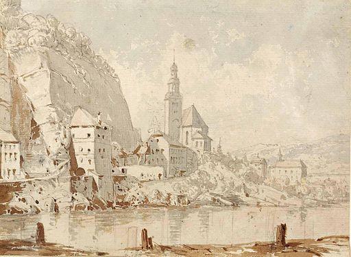 Georg Pezolt (circle) Blick auf die Müllner Kirche in Salzburg