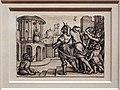 Georg pencz, virglio viene lasciato appeso a una cesta dalla figlia dell'imperatore, 1541-42.jpg