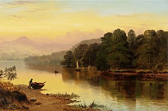 George Cole (artist) - Image: George Cole A River in Wales