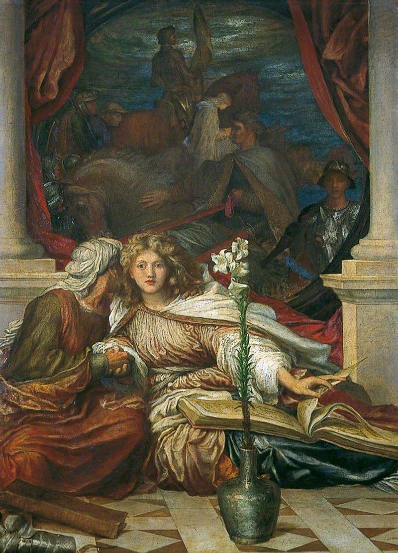 Джордж Фредерик Уоттс (1817-1904) - Britomart - 1929P527 - Бирмингемские музеи Trust.jpg